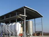 Agricultural plant steel structure: roof