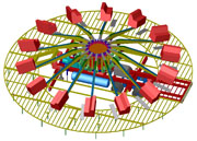Amusement rides: trailer mounted roundabout