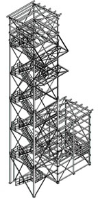 Steel structure: 38 m tall tower erected in Romania