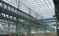 structural steel detailing of truss system industrial building